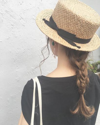 麦わら帽子に合う髪型
