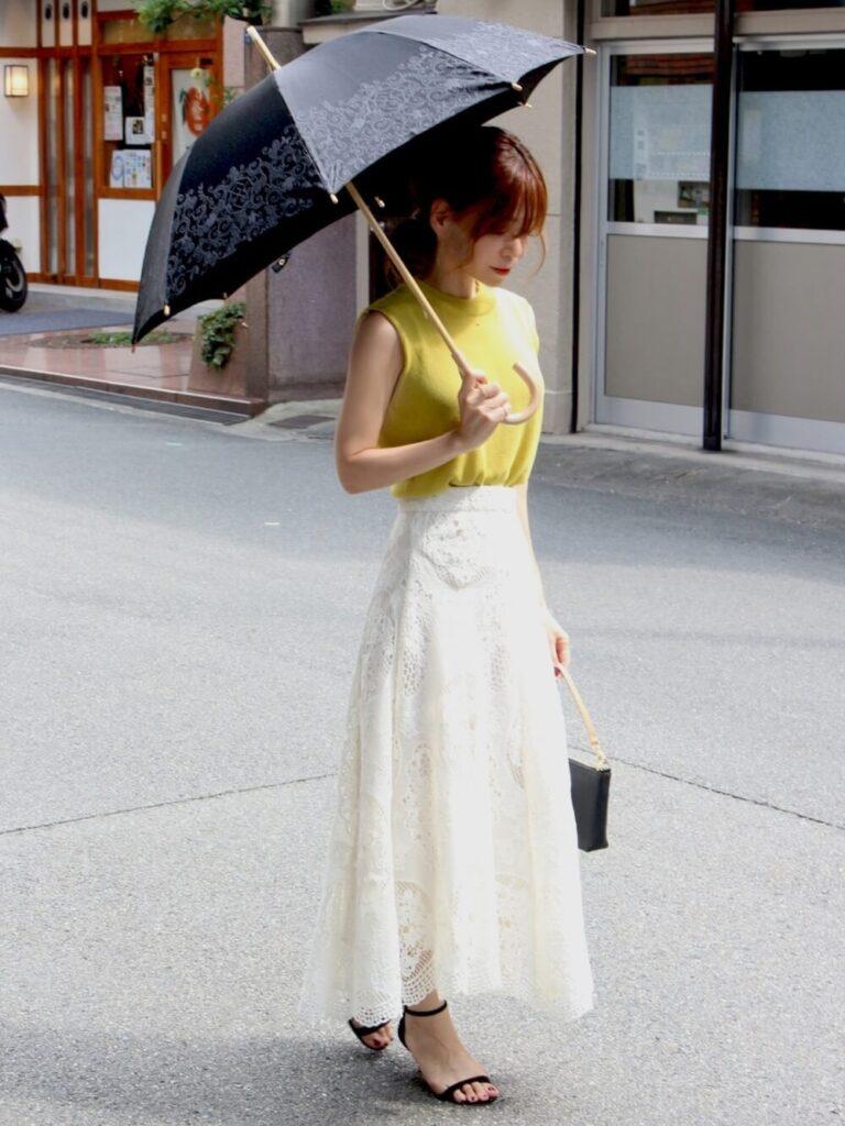 柄入りの日傘