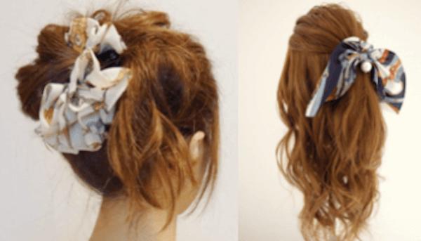 ヘアアクセサリーの選び方:ロングヘアの髪型