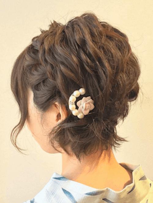 パールコーム+ショートの髪型