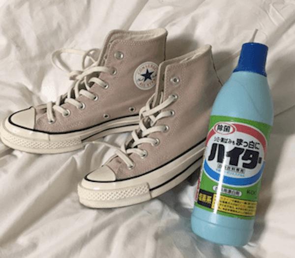 コンバースの脱色のやり方:脱色に向けて必要なアイテム