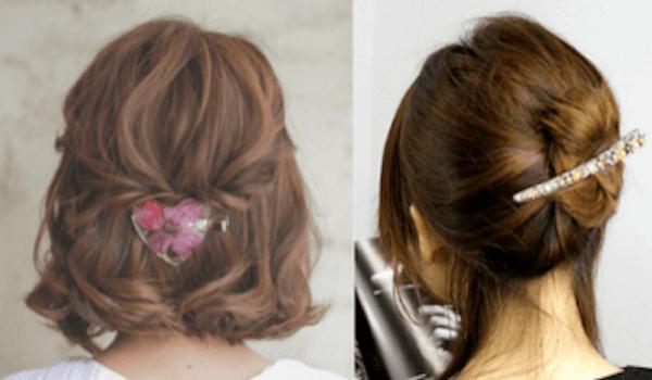 ヘアアクセサリーの選び方:ミディアムへアの髪型
