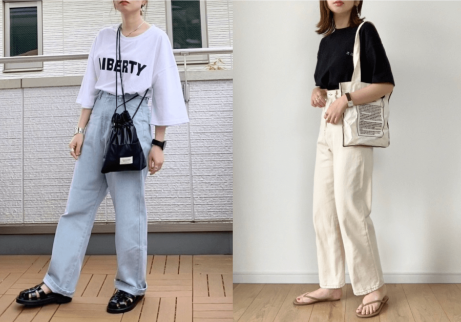 ロゴTシャツの選び方:基本は白と黒色!