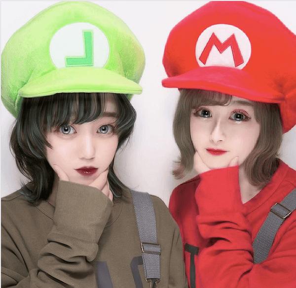 ユニバ双子コーデ:マリオの帽子