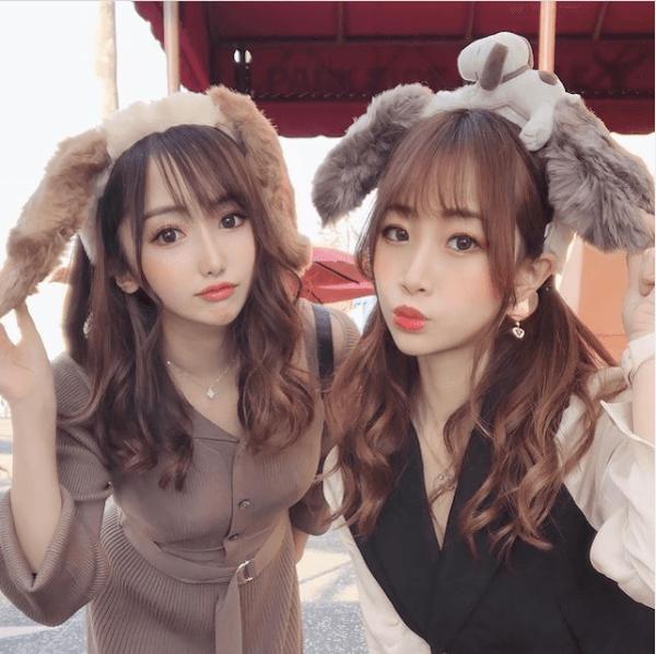ユニバ双子コーデ:スヌーピーのカチューシャ
