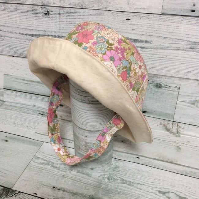 100均や自宅にあるアイテムを使った帽子が風で飛ばない方法:あご紐をつける