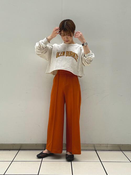 体型別のワイドパンツの着こなし方:低身長さんはハイウエストのワイドパンツでスタイルアップ!