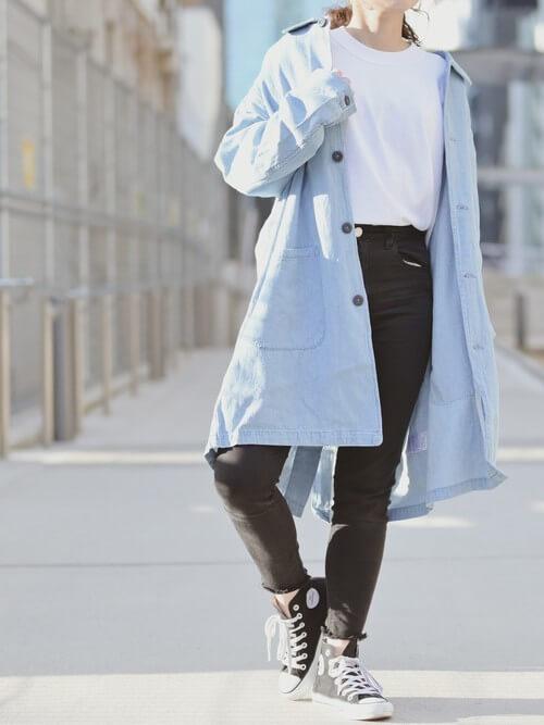 ショップコートの着こなし方:インスタイルできちんと感を!