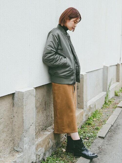 スカート×ブーツ