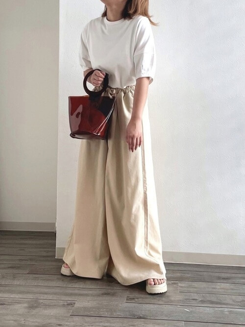 体型別のワイドパンツの着こなし方:下半身が気になる方はAラインのワイドパンツを!