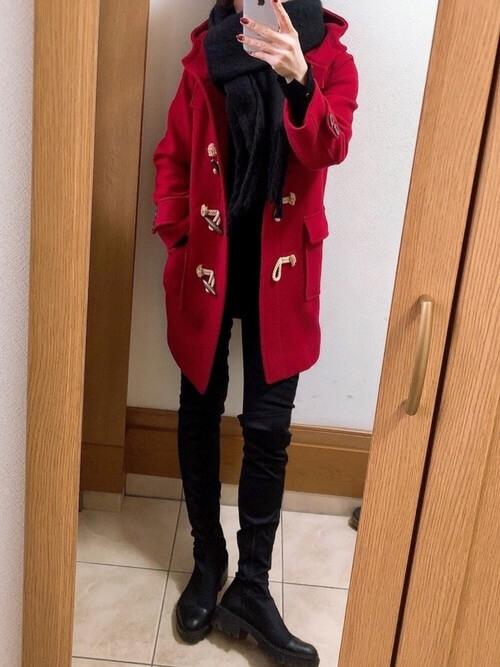 スキニーパンツ×ブーツ