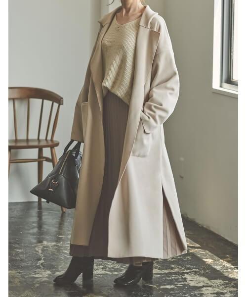 ガウンコートの着こなし方:基本は前は開けて着る!