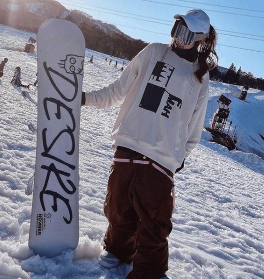 スノーボードウェアの着こなし:ゆるダボ