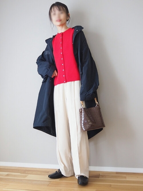 レディースにおすすめのモッズコートの色:ネイビー
